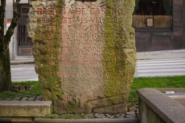 Anverso do monumento