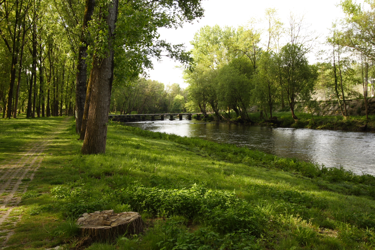O Río Avia e a Ponte das Poldras