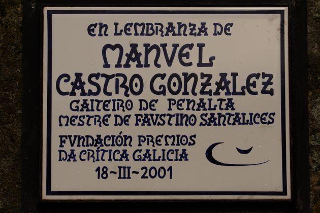 Placa conmemorativa ao gaiteiro de Penalta