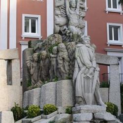 Curros Enríquez na cidade da Coruña